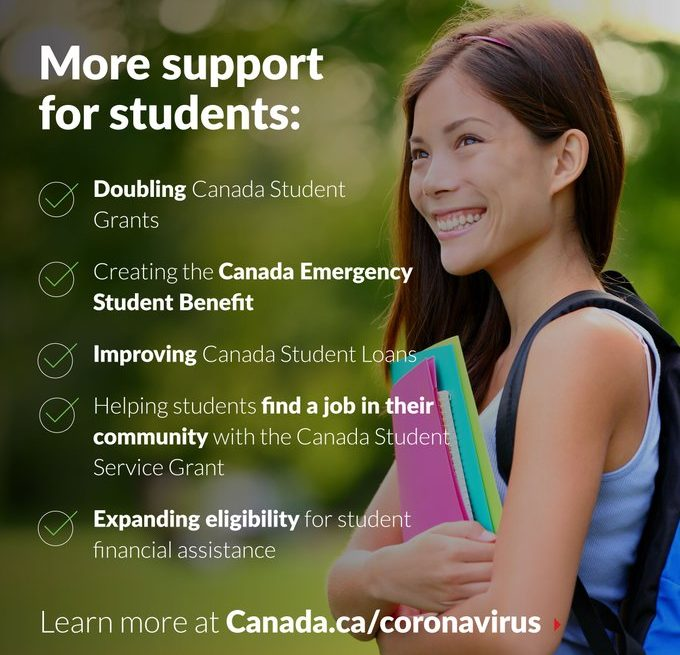 $9B in new COVID-19 funding for students: Canada Emergency Student Benefit (CESB) and Canada Student Service Grant (CSSG)