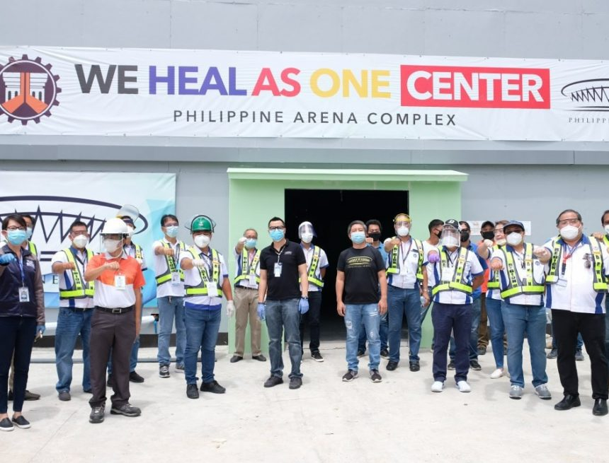 """""""We Heal as One"""" COVID-19 facility at the Philippine Arena to open ahead of April 29-schedule"""