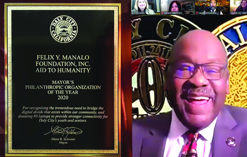Felix Y Manalo Foundation recognized as Daly City's Philanthropic Organization of the Year