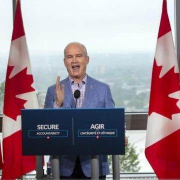O'Toole takes aim at Trudeau, Singh as inflation numbers shift focus of campaign